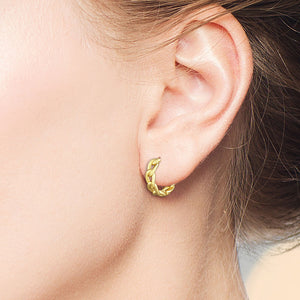 """Little Elements"" Chain Link Huggie Earrings - Sterling Silver / Gold Vermeil"