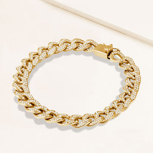 """Links of Glam"" 6.2 Pave Curb Chain Bracelet"