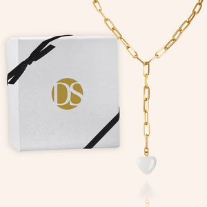 """Dreamer"" Heart Pendant Clip Chain ""Y"" Necklace"