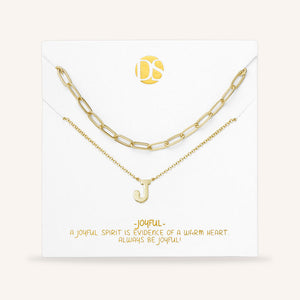"""One in a Million"" Set of Two Initial & Clip Chain Layering Necklaces"
