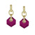 """Doyenne"" Fuchsia Faceted Crystal Earrings"