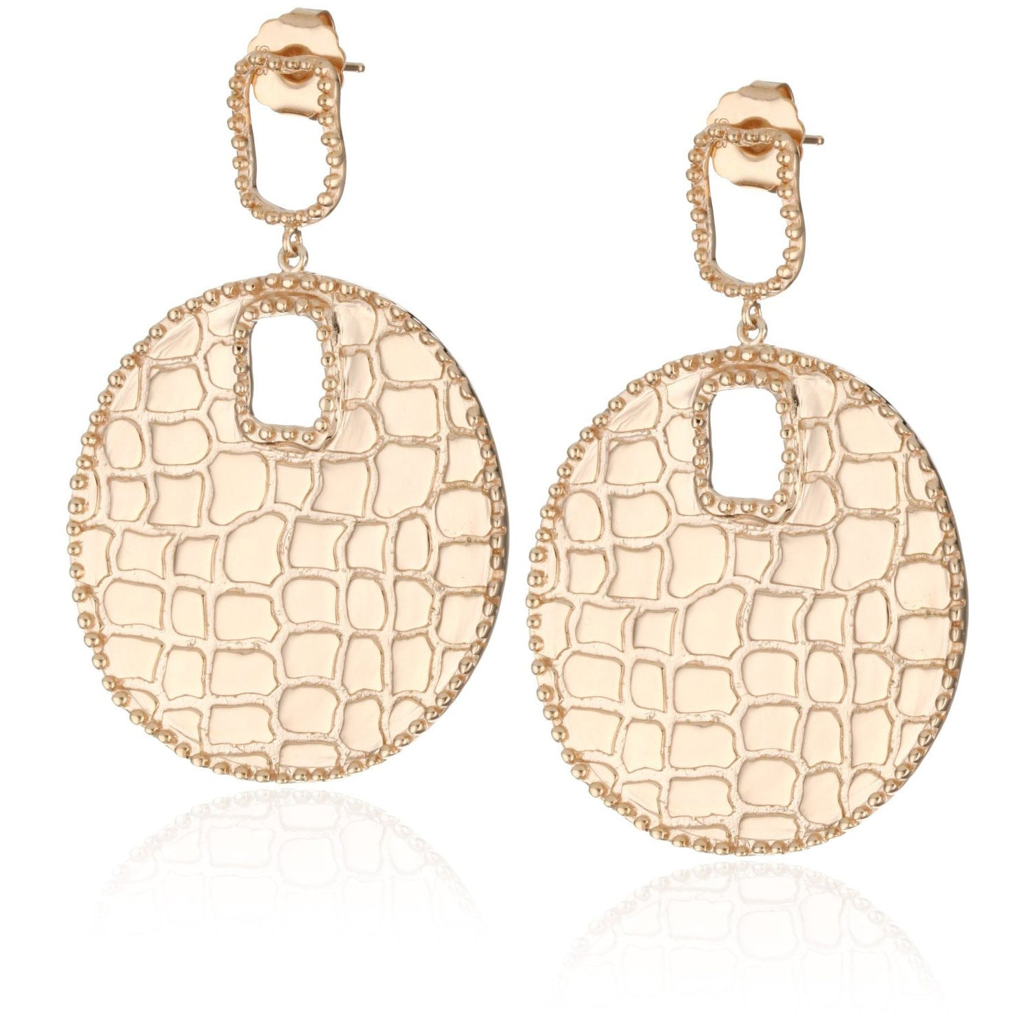 Croco Disc Earrings More Colors