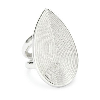 Rhodium Plated Sterling Silver, Gypsy Ring