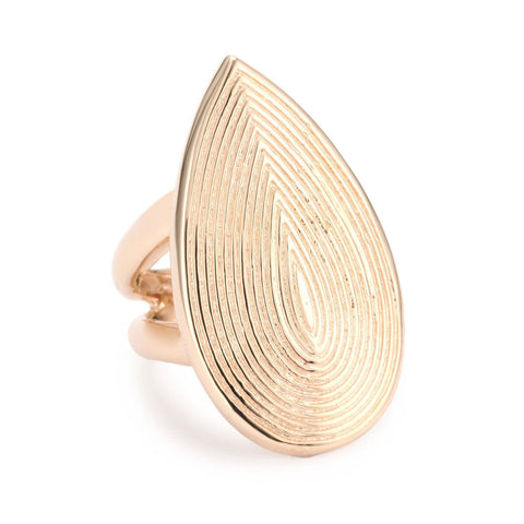 18K Rg Plated Sterling Silver Gypsy Ring