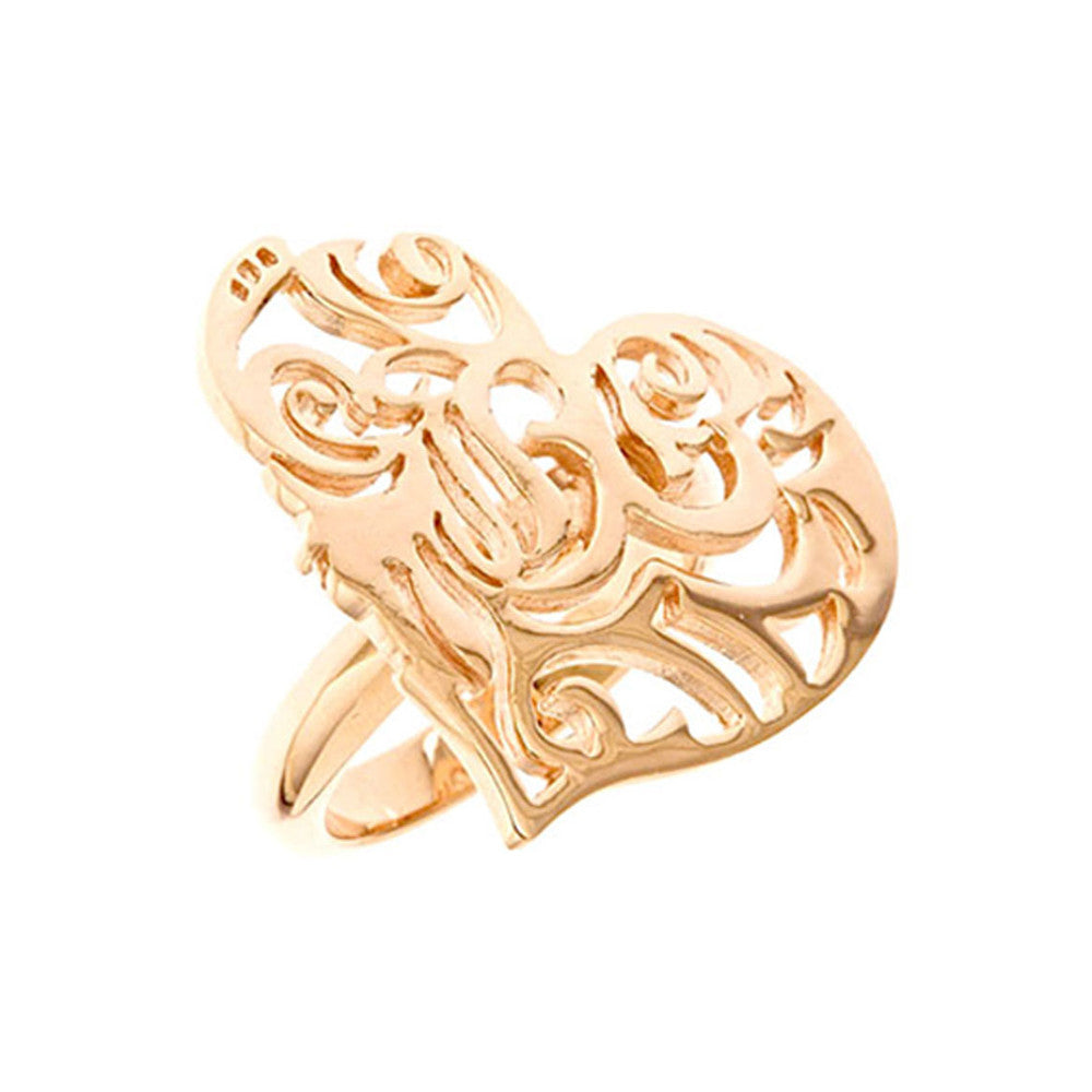18K Rg Plated Sterling Silver, Sacred Heart Ring