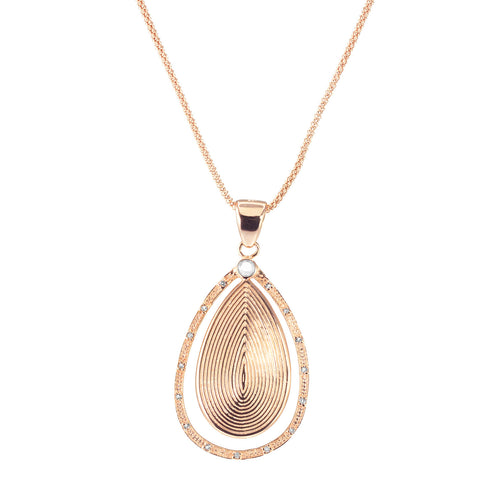 Gypsy  Rose Gold Pendant Necklace