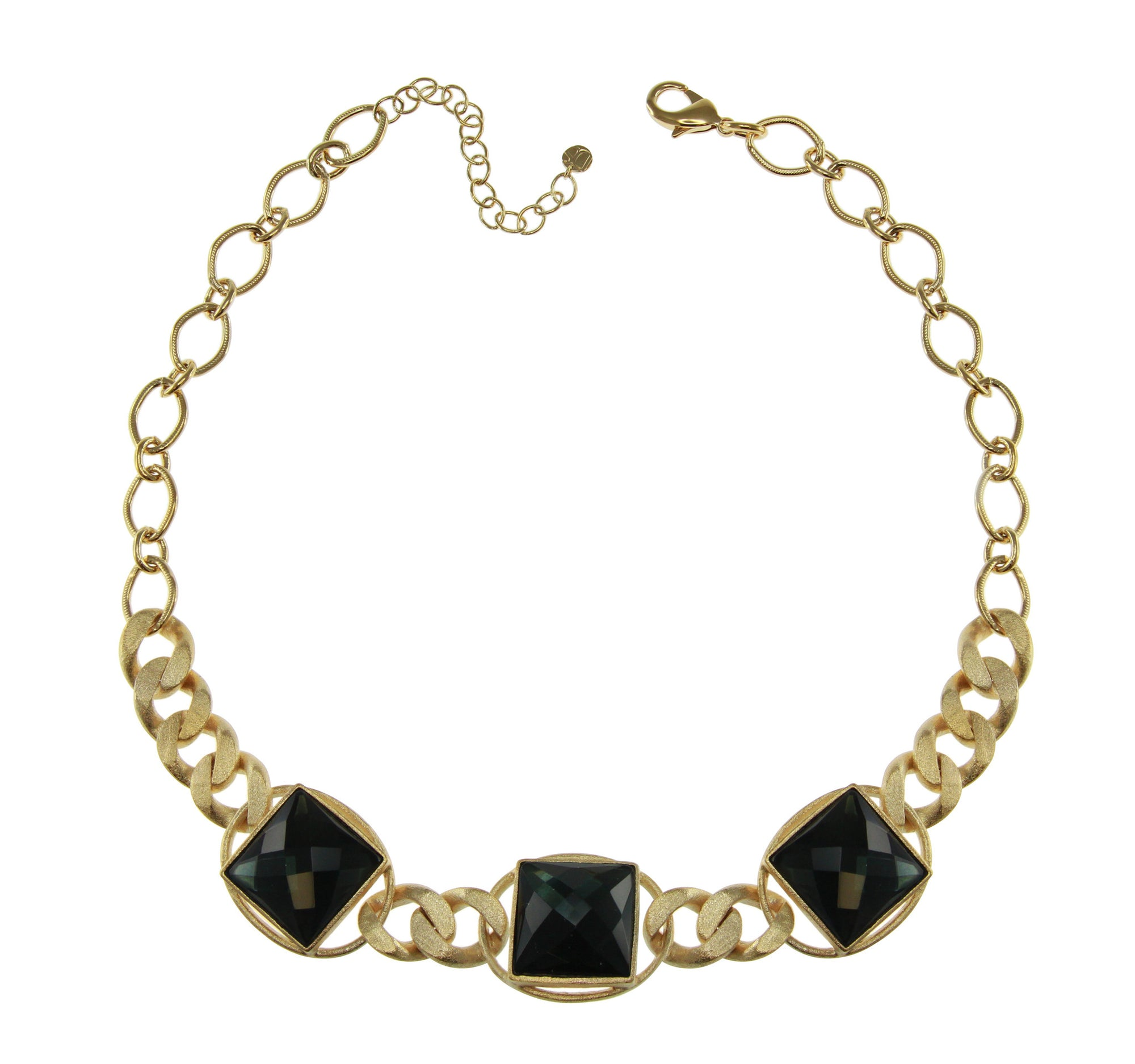 """Verve"" Crystal Station 20"" Link Necklace"