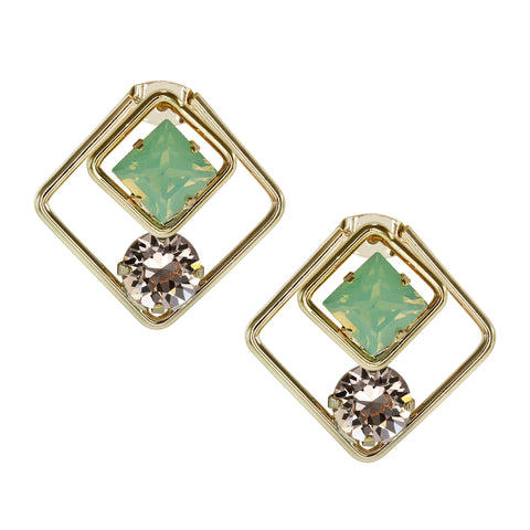 """Front and Back"" Diamond Shape  Earrings More Colors"