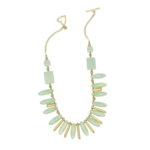 Light Green Jade Glamour Necklace