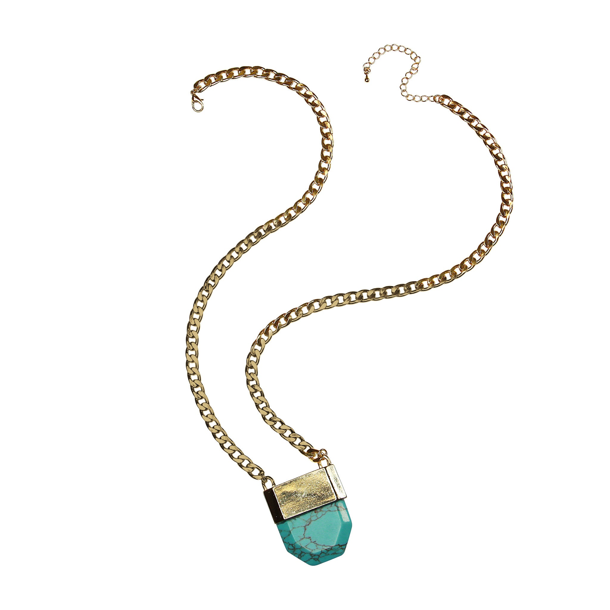 stone necklace gold turquoise st pendant gift jude shop