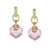 Doyanne Light Pink Faceted Crystal  Huggy Style drop Earrings More Colors