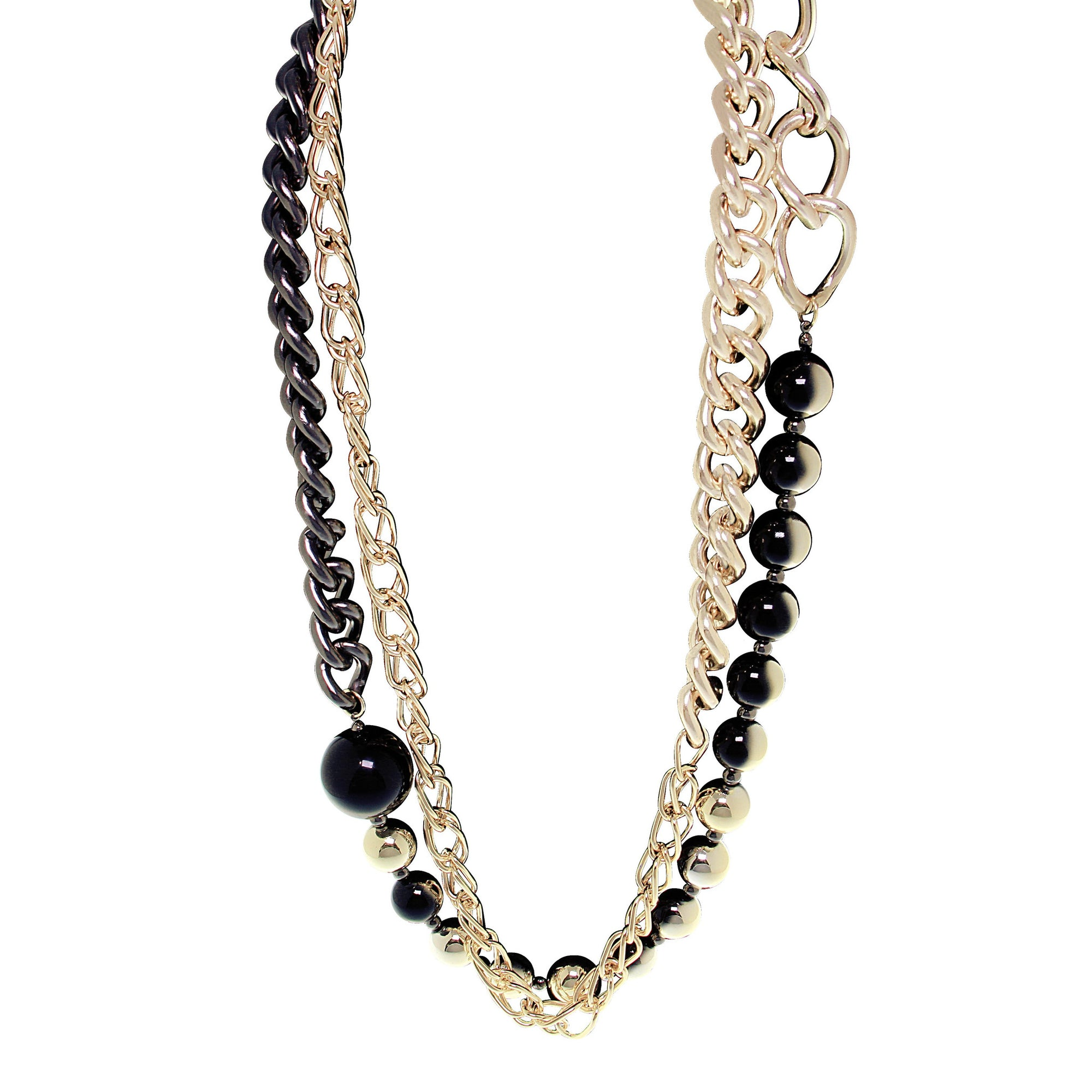 """Ball and Chain"" Ombre Statement Necklace"