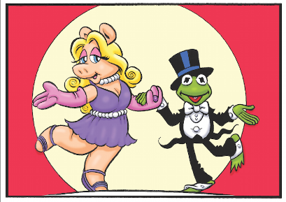 Miss Piggy and Kermit print