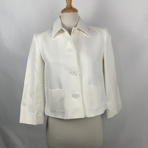 Ralph Lauren Ivory Cropped Jacket with Pockets