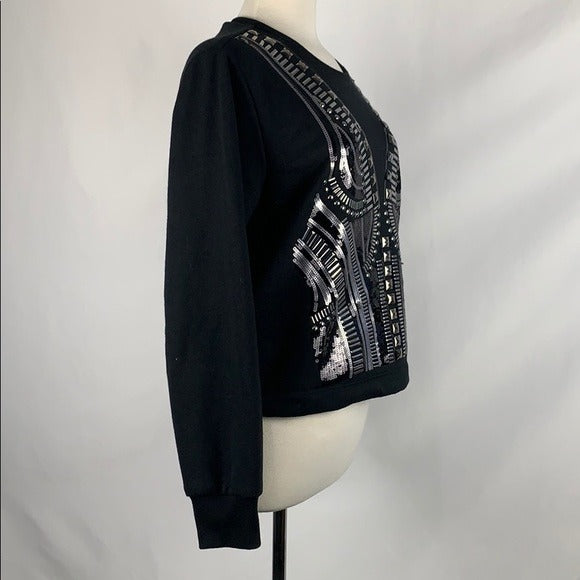 BCBG Black With Silver Beading