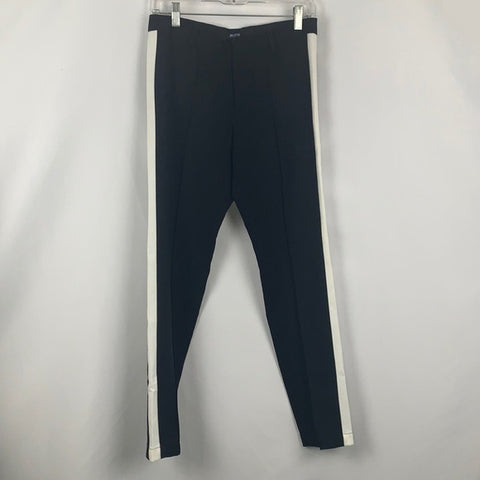 Madewell Black and White Striped Side Pants