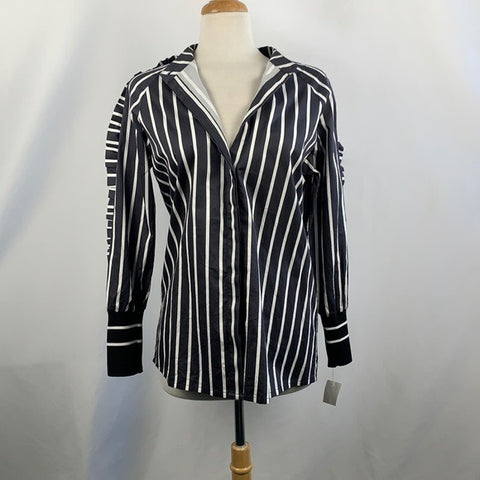 NEW NORR Black and White Striped Blouse