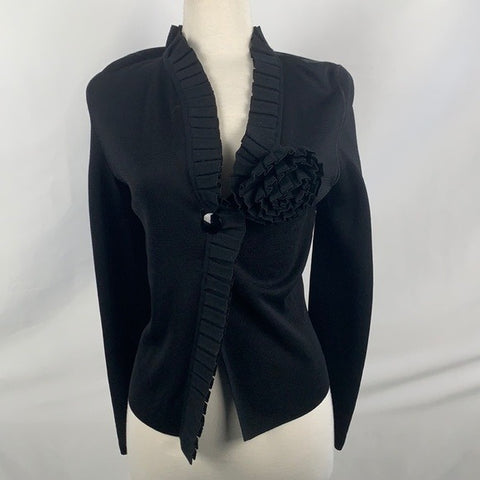Armani Collezoni Sweater Jacket with Flower