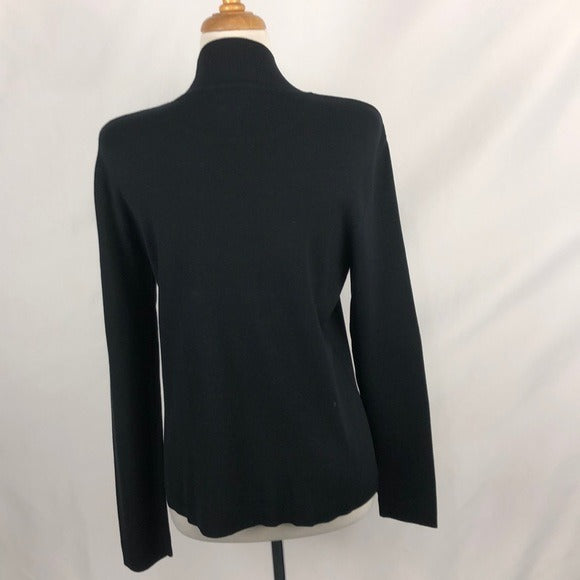 Chicos Black High Neck Sweater