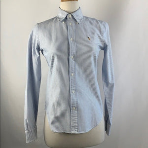Ralph Lauren Blue Pinstripe Button Down