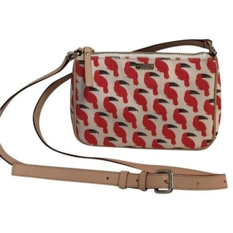 Kate Spade Red Canvas Cross Body Bag