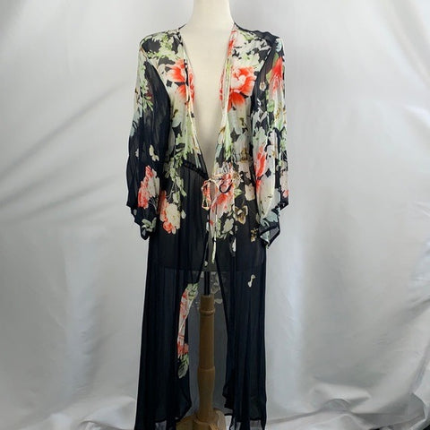 SAACHI Blue with Flowers Cardigan