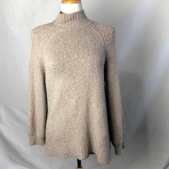 Aeropostale Taupe Fuzzy Mock Neck Sweater