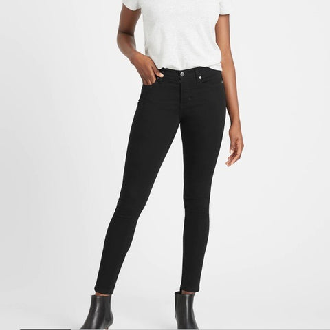 Banana Republic Black Skinny Stretch Jeans