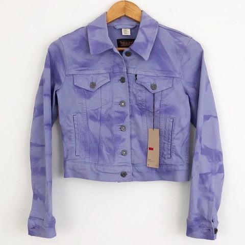 NEW Levi's Purple Tie Dye Jacket
