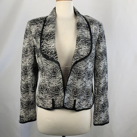NEW Black and Silver Embroidered Jacket