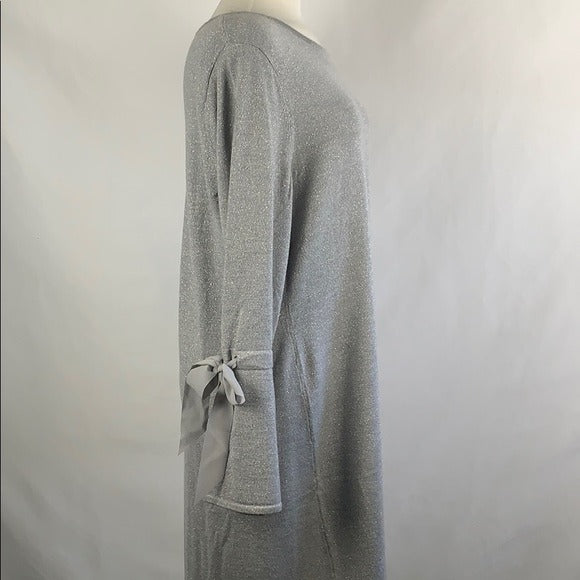 NEW Talbots Silver Knit with Bell Sleeves
