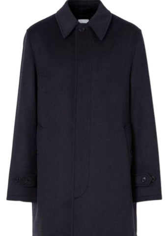 Men's Burberry Navy Cash and Wool Blend