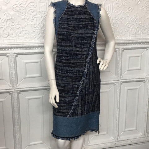 Deconstructed Denim and Tweed Rebecca Taylor Dress
