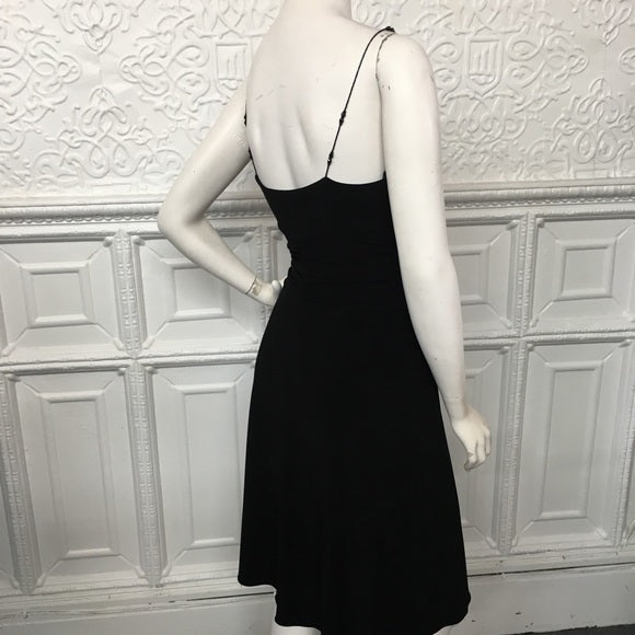 Laundry Black Beaded Strap Cocktail Dress Size 4