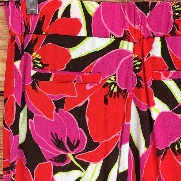 Kate Spade Floral Hutton Pants With Drawstring