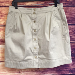 See by Chloé Tan Button Down Khaki Skirt