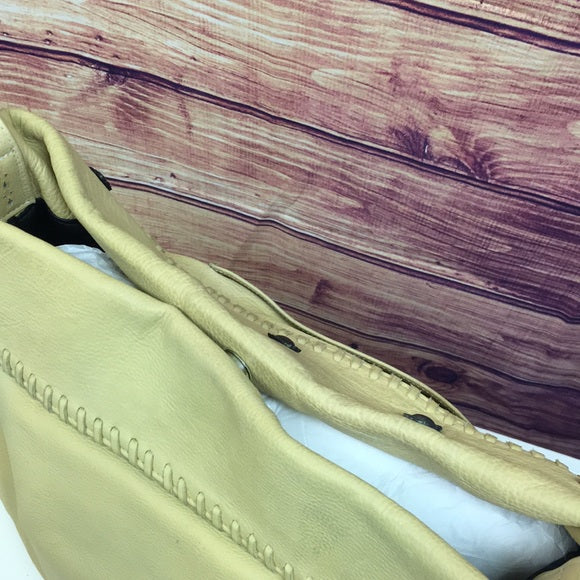Vintage Hand-painted Western Yellow Leather Bag