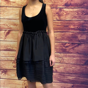 NWT Miu Miu Black Velvet Babydoll Mini Dress