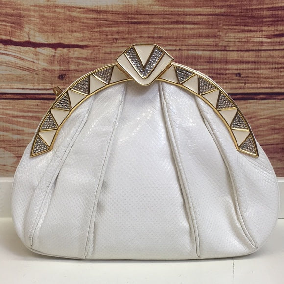 Vintage Judith Leiber Whine Reptile Evening Bag