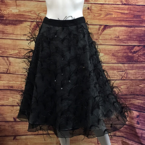 Sachin & Babi Kensington Black Feather Skirt