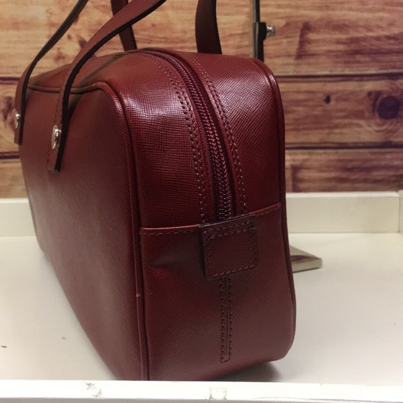 Burberry Rectangular Red Leather Satchel