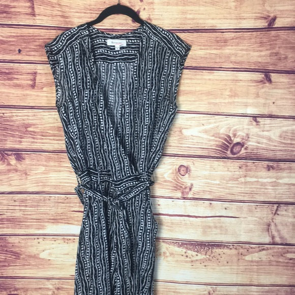Two by Vince Camuto Garden Rows Black Jumpsuit