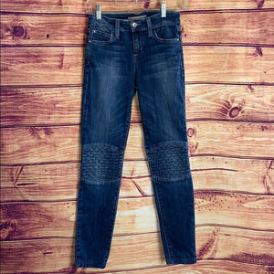 Joe's Jeans The Skinny Quilted Knee Moto Jeans