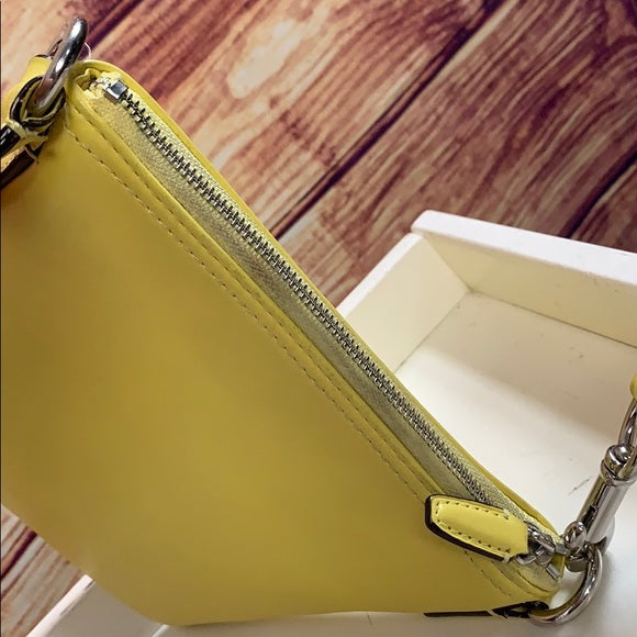 Coach Yellow Leather Crossbody Bag