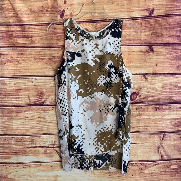 Rag & Bone Patricia Camo Sleeveless Silk Top