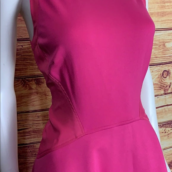 Ted Baker Hot Pink Skater Racerback Mini Dress