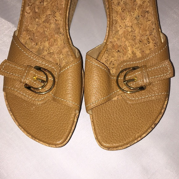 Stuart Weitzman cork bottom platforms