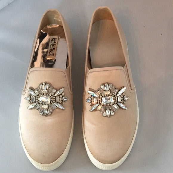 Badgley Mischka slip on sneakers with bling