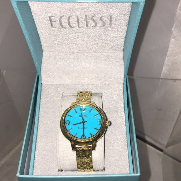 Ecclissi Sleeping Beauty Turquoise Face Watch