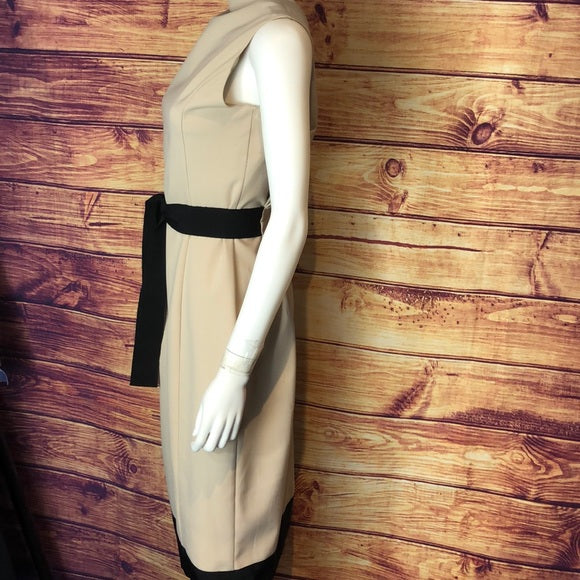 Moschino Tan Dress with Black Belt